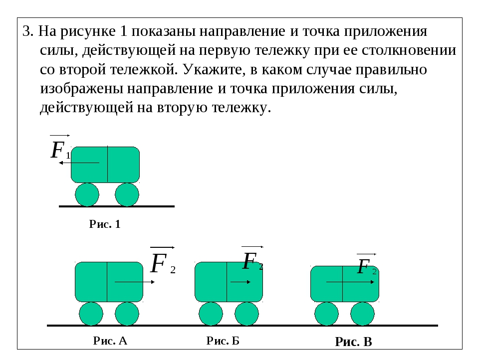 3. На рисунке 1 показаны направление и точка приложения силы, действующей на...