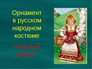 Орнамент в русском народном костюме «Русская краса»