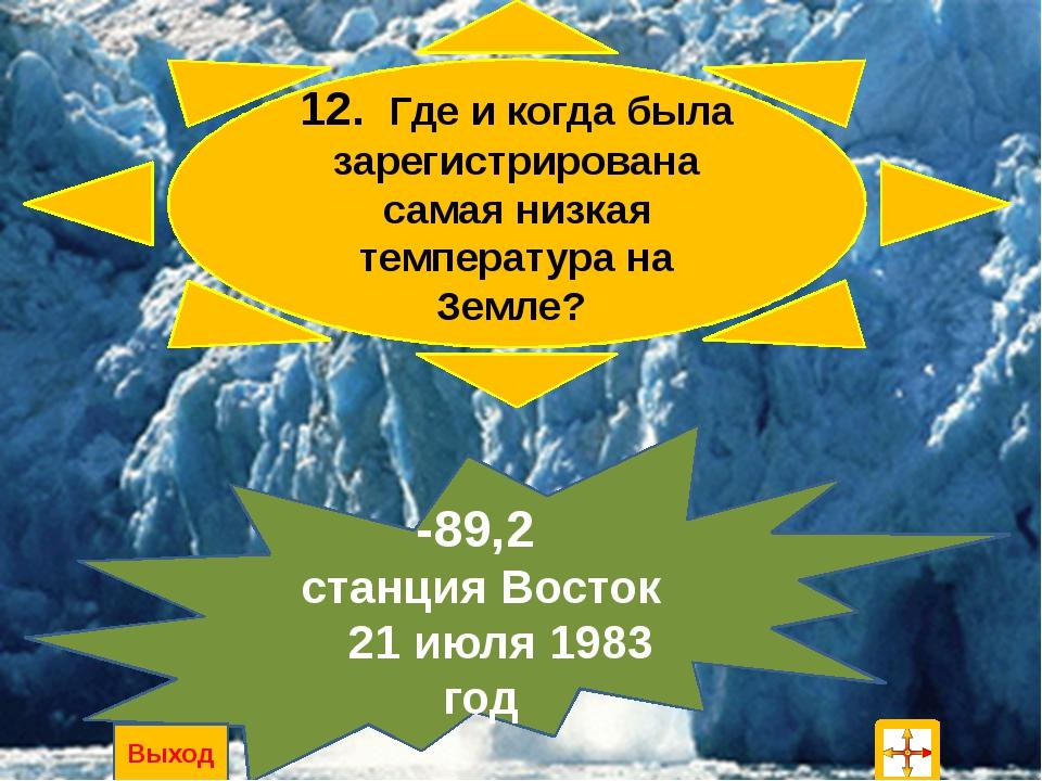 4. Как называются свободные от льда участки? Антарктические оазисы Выход
