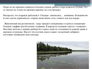 Озеро во все времена славилось богатым уловом: рыбы в озере водилось столько
