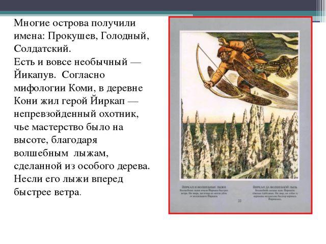 Многие острова получили имена: Прокушев, Голодный, Солдатский. Есть и вовсе н...