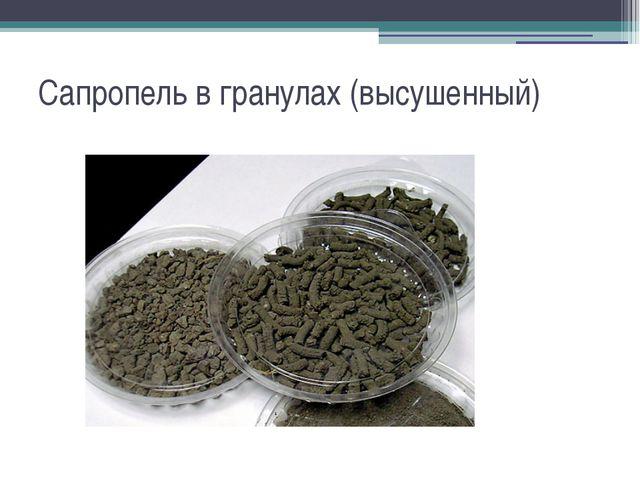 Сапропель в гранулах (высушенный)