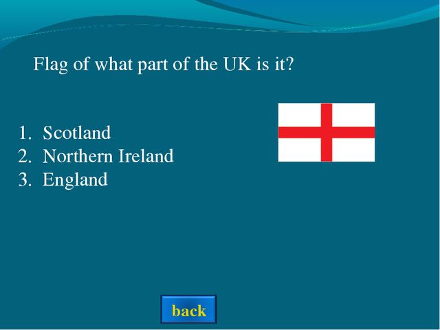 Flag of what part of the UK is it? Scotland Northern Ireland England