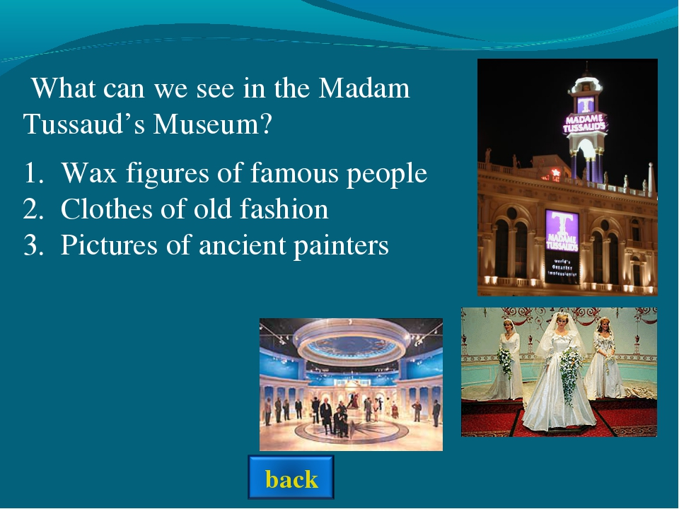 Wax figures of famous people Clothes of old fashion Pictures of ancient paint...