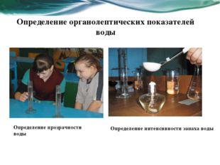 Определение органолептических показателей воды Определение прозрачности воды