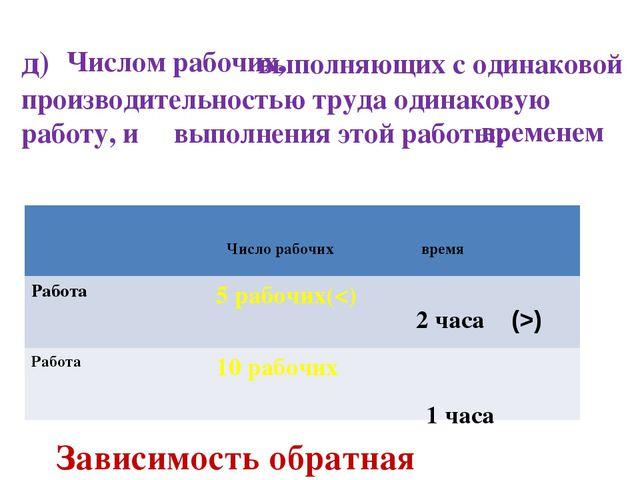 д) выполняющих с одинаковой производительностью труда одинаковую работу, и в...
