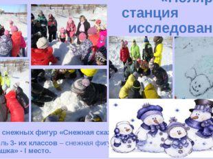 «Полярная станция исследований» Конкурс снежных фигур «Снежная сказка». Парал