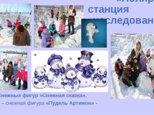 «Полярная станция исследований» Конкурс снежных фигур «Снежная сказка». 1 Б к