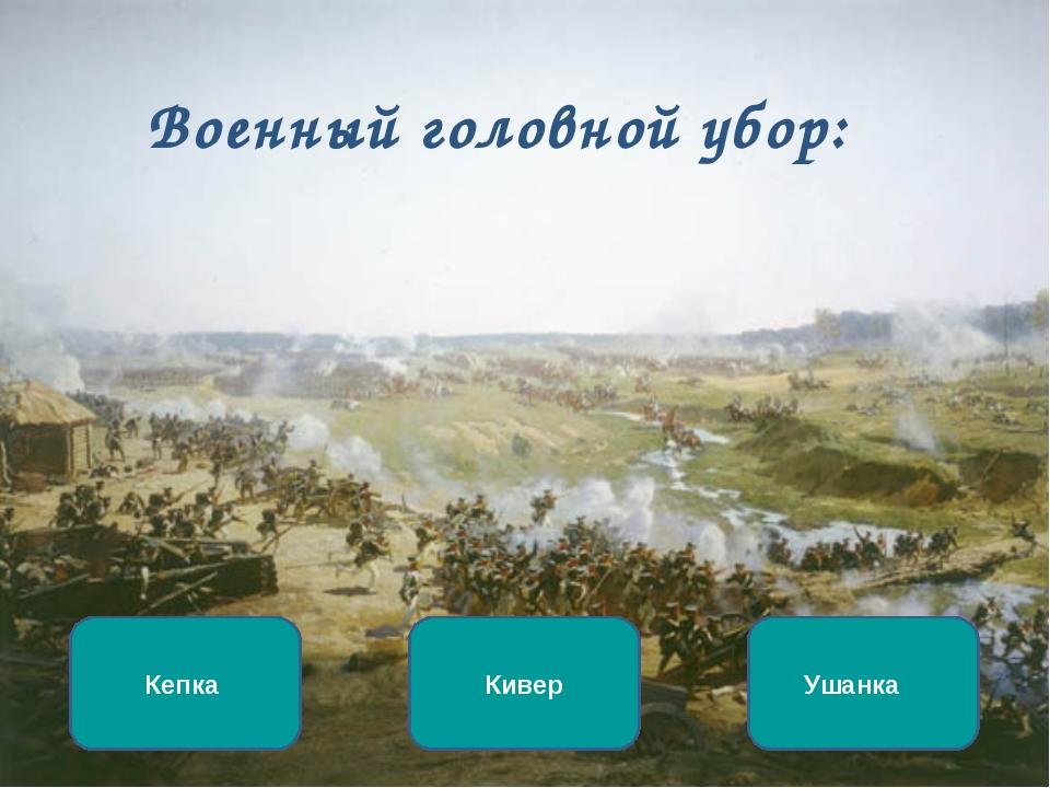 Военный головной убор: Кивер Кепка Ушанка