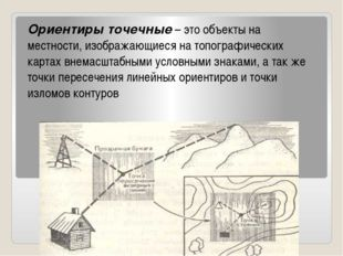 Ориентиры точечные– это объекты на местности, изображающиеся на топографичес