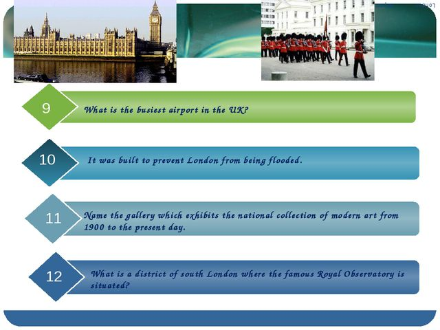 What is the busiest airport in the UK? London ……… Airport It was built to pre...
