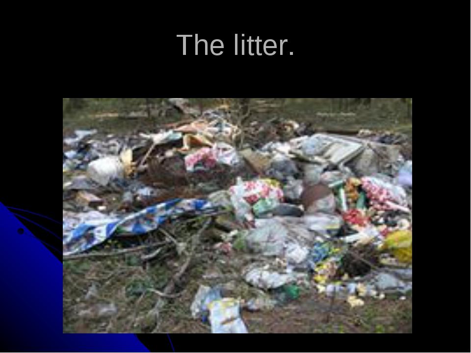 The litter.