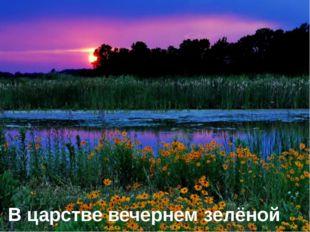 В царстве вечернем зелёной весны.
