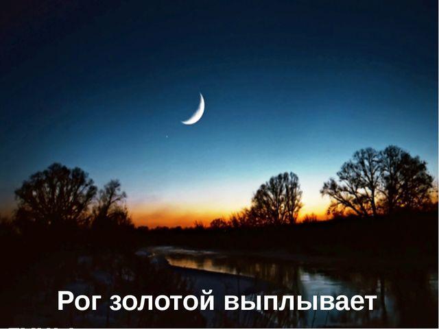 Рог золотой выплывает луны.