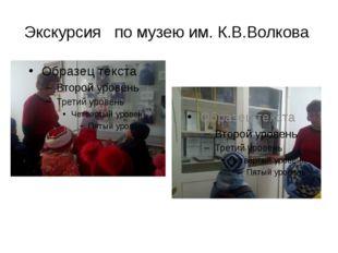 Экскурсия по музею им. К.В.Волкова