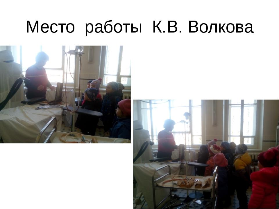 Место работы К.В. Волкова