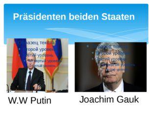 Präsidenten beiden Staaten W.W Putin Joachim Gauk