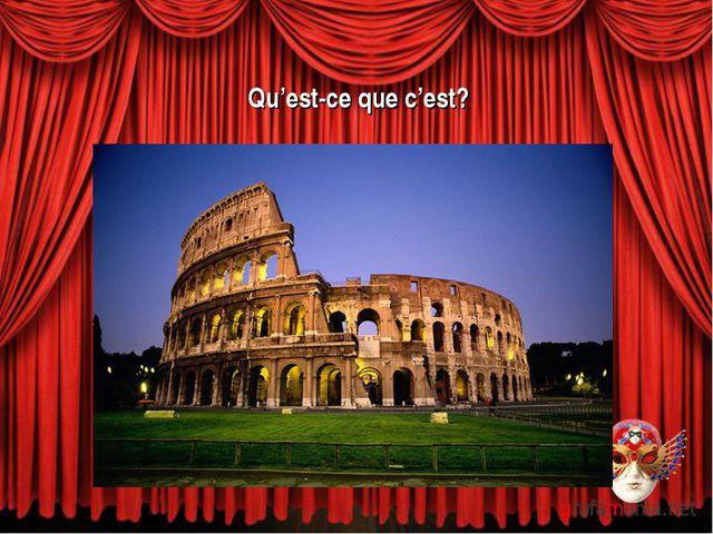 Qu'est-ce que c'est? a) le Grand Opéra b) le Colisée c) le théâtre Mogador
