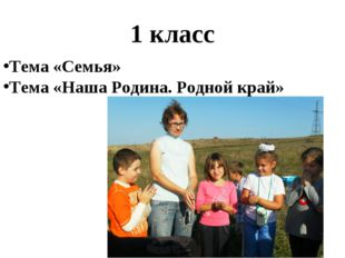 1 класс Тема «Семья» Тема «Наша Родина. Родной край»