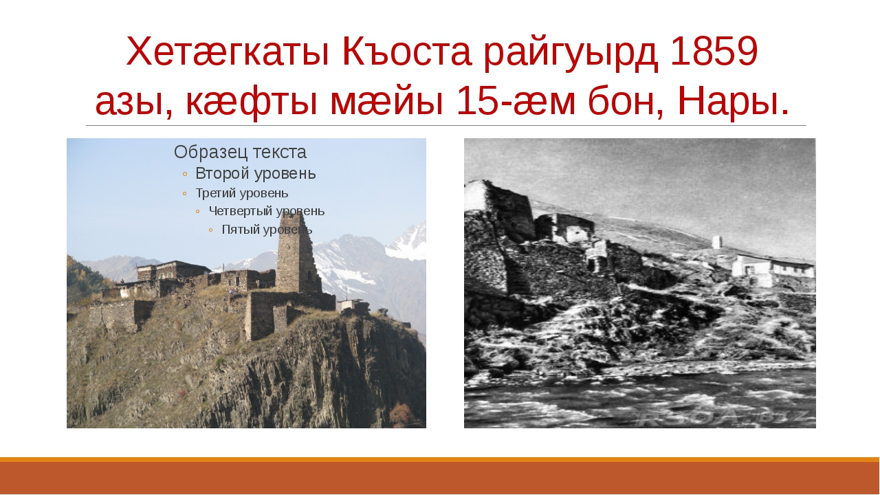 Хетæгкаты Къоста райгуырд 1859 азы, кæфты мæйы 15-æм бон, Нары.