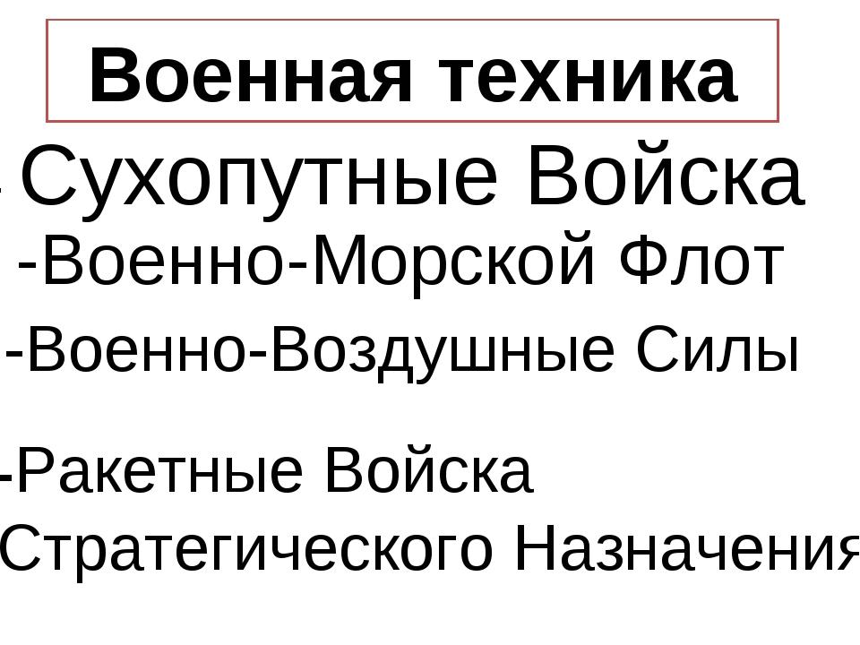 Военная техника - Сухопутные Войска -Военно-Воздушные Силы -Военно-Морской Фл...
