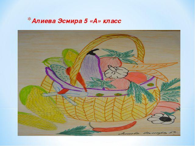 Алиева Эсмира 5 «А» класс