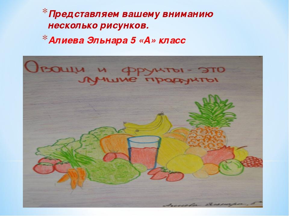 Представляем вашему вниманию несколько рисунков. Алиева Эльнара 5 «А» класс
