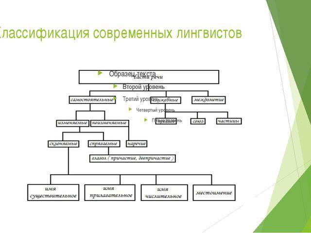 Классификация современных лингвистов