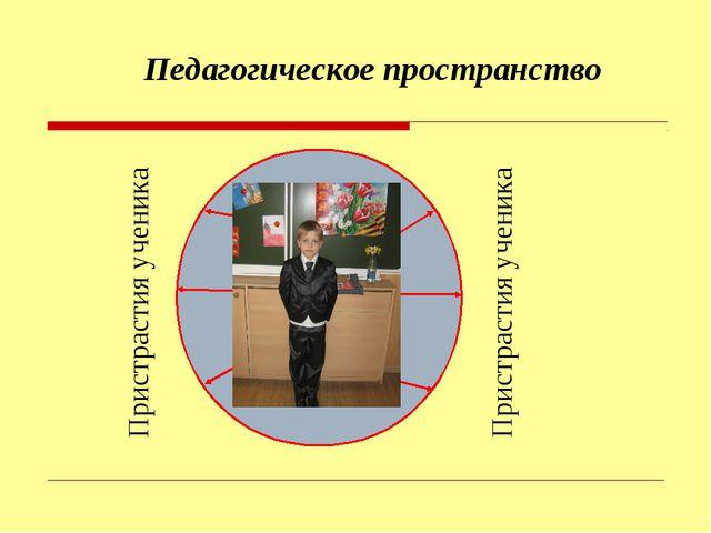 ученик Педагогическое пространство Пристрастия ученика Пристрастия ученика