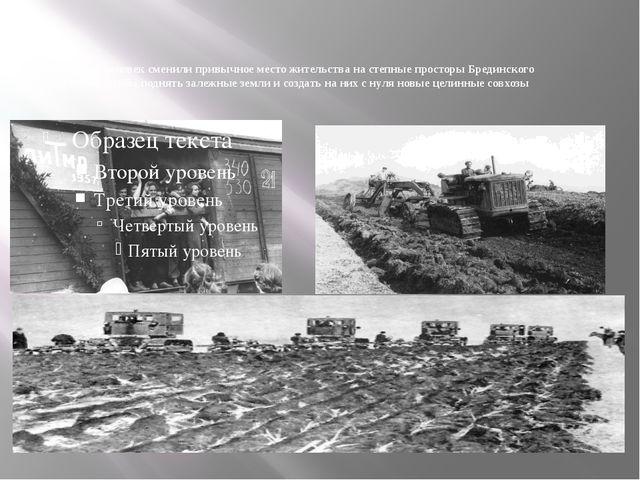Тысячи человек сменили привычное место жительства на степные просторы Бредин...