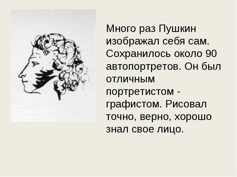 Много раз Пушкин изображал себя сам. Сохранилось около 90 автопортретов. Он б...