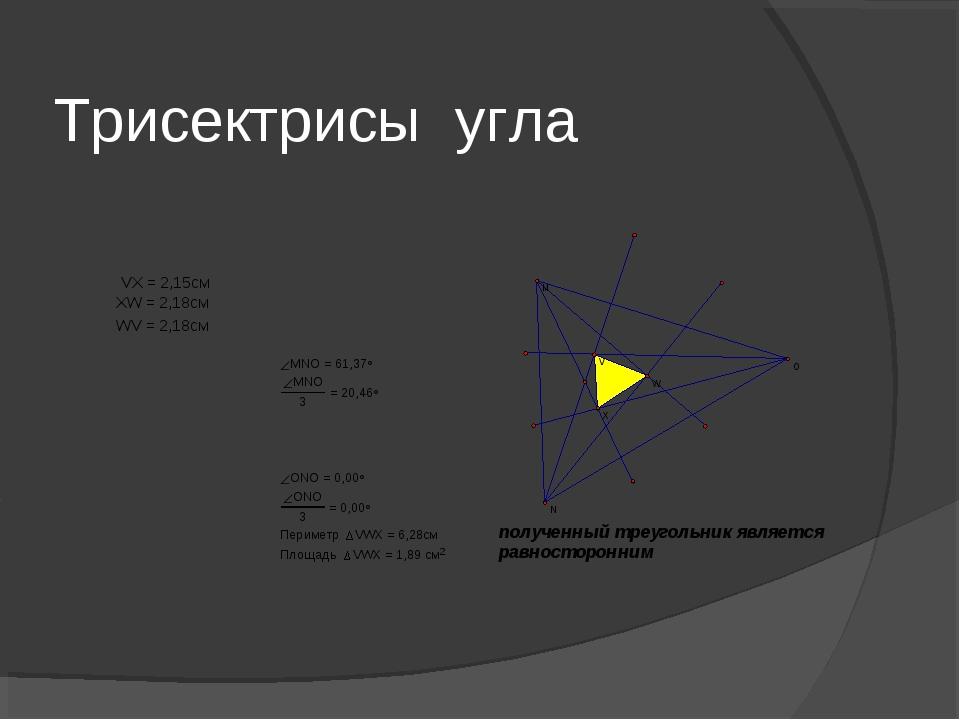 Трисектрисы угла