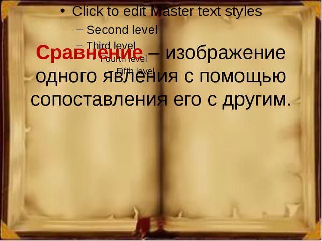 Сравнение – изображение одного явления с помощью сопоставления его с другим.
