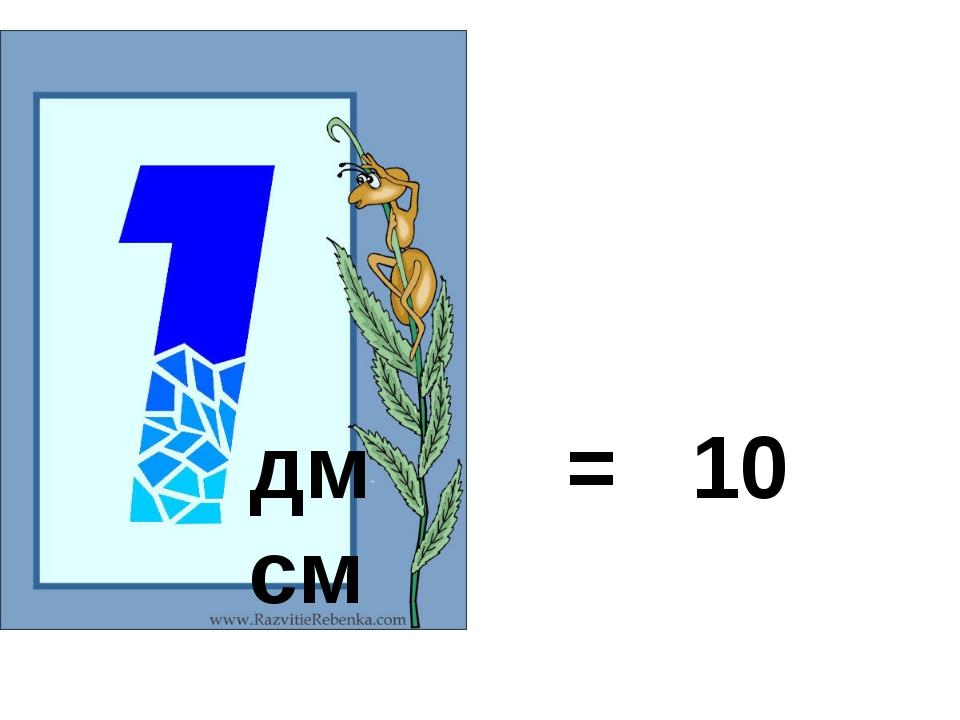 дм = 10 см