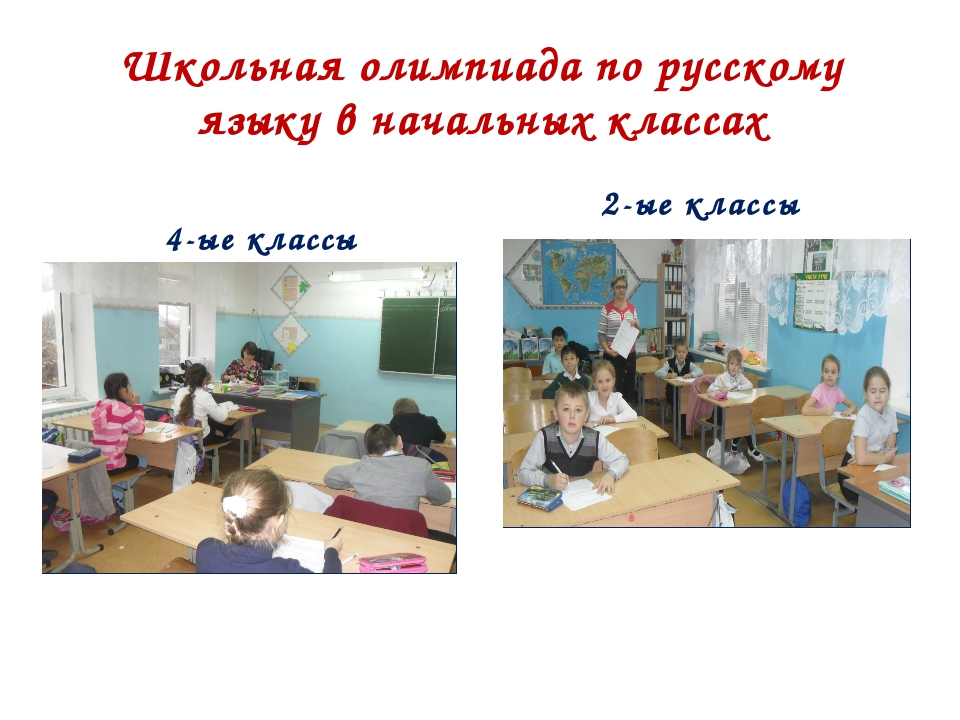 Школьная олимпиада по русскому языку в начальных классах 4-ые классы 2-ые кла...