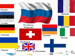Италия Румыния Франция Польша Эстония Украина Германия Швейцария Финляндия Ар