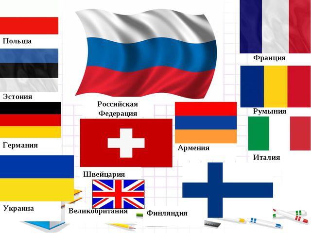 Италия Румыния Франция Польша Эстония Украина Германия Швейцария Финляндия Ар...