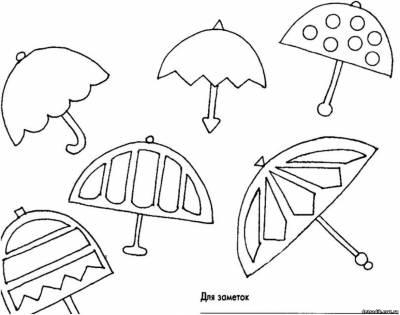 Зонтик из бумаги своими руками схема 73