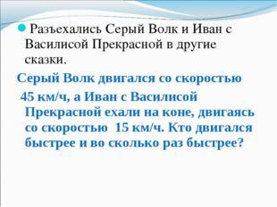 Разъехались Серый Волк и Иван с Василисой Прекрасной в другие сказки. Серый В