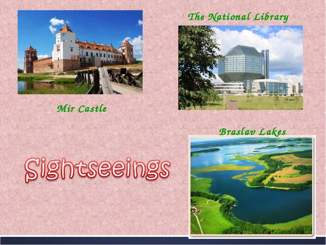 Mir Castle The National Library Braslav Lakes