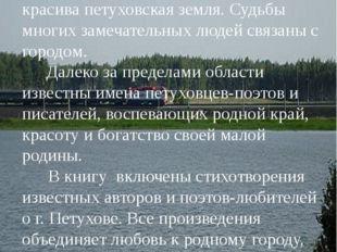 Города, как и люди, имеют свое неповторимое лицо, свою биографию. г. Петухов