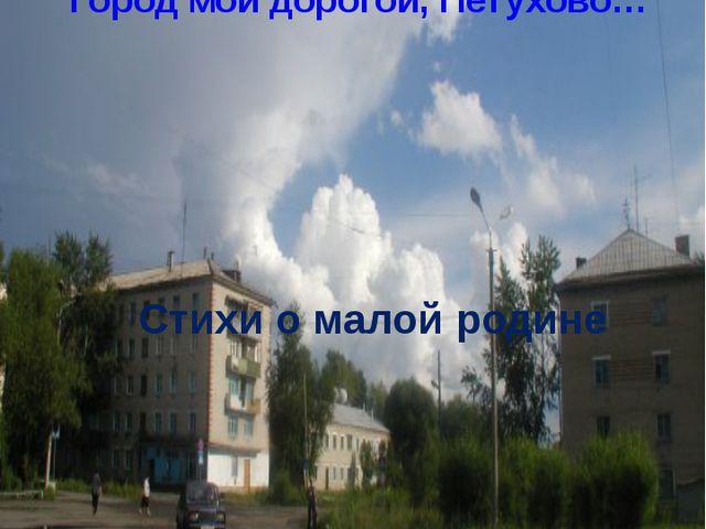 Стихи о малой родине Город мой дорогой, Петухово… 2014