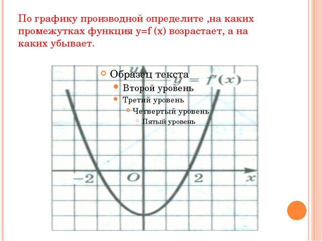 По графику производной определите ,на каких промежутках функция y=f (x) возра...