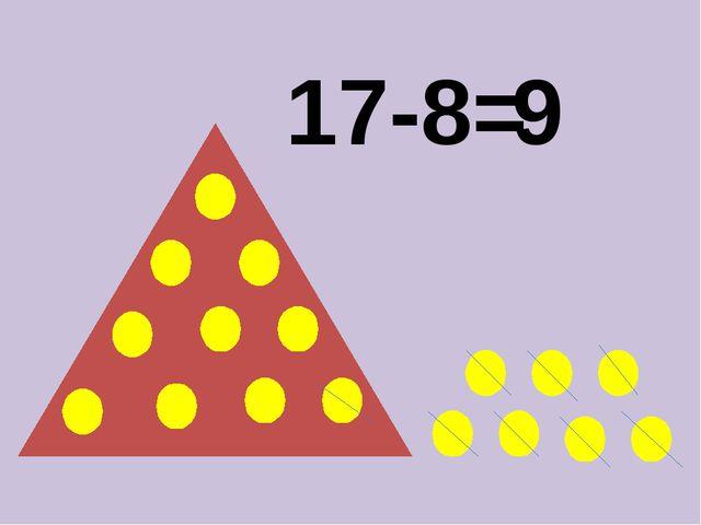 17-8= 9