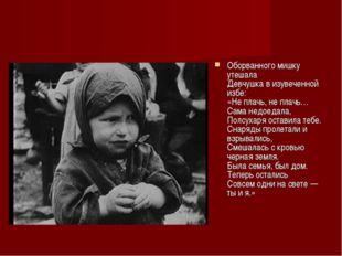 Оборванного мишку утешала Девчушка в изувеченной избе: «Не плачь, не плачь… С