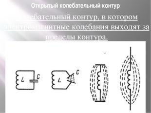 Открытый колебательный контур Колебательный контур, в котором электромагнитны