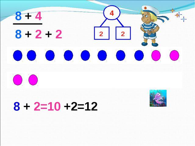 8 + 4 8 + 2 + 2 2 2 8 + 2=10 +2=12