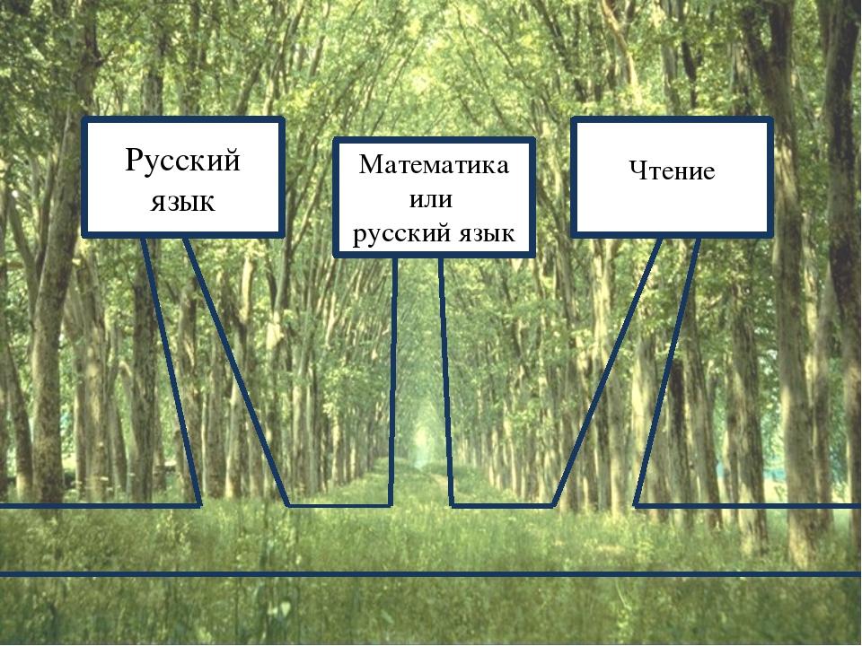Русский язык Математика или русский язык Чтение