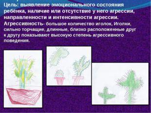 Рисуночный тест «Кактус» (Панфилова М.А.) Цель: выявление эмоционального сост