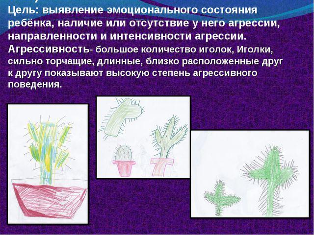 Рисуночный тест «Кактус» (Панфилова М.А.) Цель: выявление эмоционального сост...